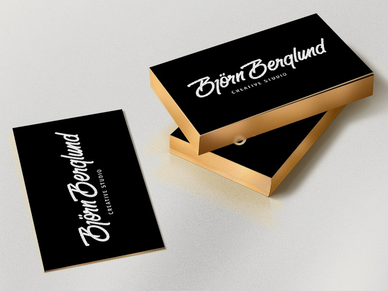 Business cards paint edges by bjrn berglund dribbble so finally ordering my business cards it will be a white backside with contact info paper thickness of total 700 gram and thinking of painting the colourmoves