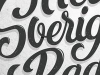 Work in progress, magazine cover lettering
