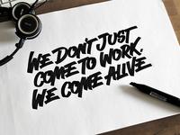 Lettering sketch for client