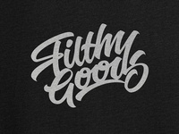 Logo sketch for Filthy Goods