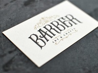Business card for Barber Art & Crafts