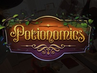Potionomics, lettering for video game title