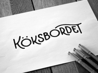 Logo sketch for restaurant Köksbordet