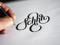 Lettering sketch for tattoo
