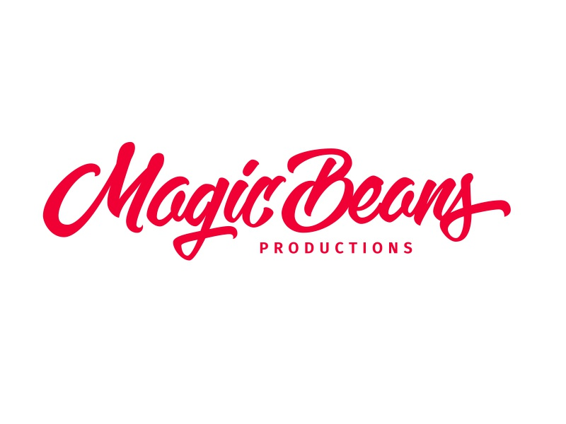 Logo for Magic Beans Productions hand lettering handlettering logotype logo designer logo design logodesign logo lettering