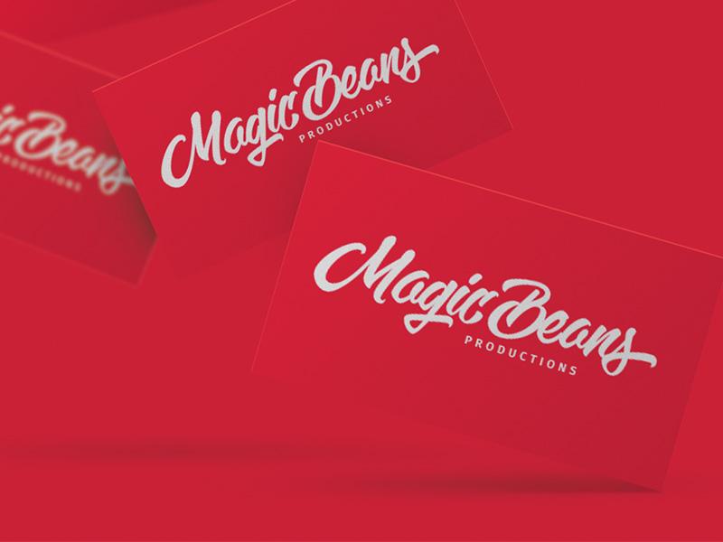Final lettering logo for Magic Beans logo designer logo design logodesigner logodesign logo hand lettering handlettering lettering