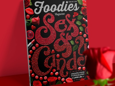 Magazine cover with Sex & Candy lettering