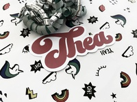 Thea lettering