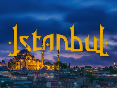 """Lettering """"Istanbul"""""""
