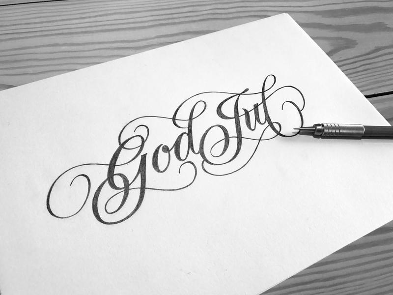 """Merry Christmas"" in Swedish god jul merrychristmas typography illustration custom type customtype handlettering hand lettering lettering"