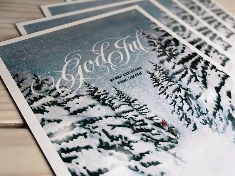 Merry Christmas! swedish design holidaycard christmas card merrychristmas illustration custom type hand lettering lettering