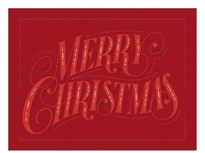 """Lettering vector """"Merry Christmas"""""""