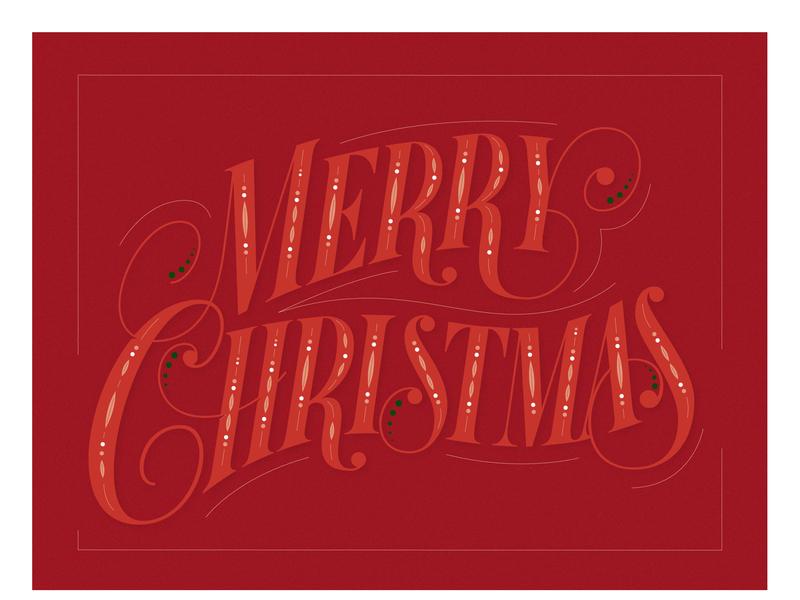 """Lettering vector """"Merry Christmas"""" logo designer merry christmas custom typeface custom type vector type hand lettering lettering"""
