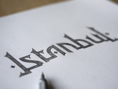 Istanbul, lettering sketch