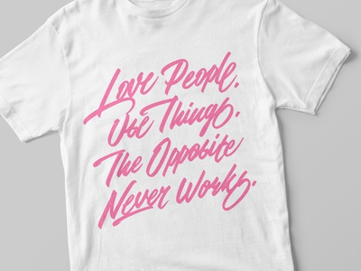 """Love People ..."" lettering"