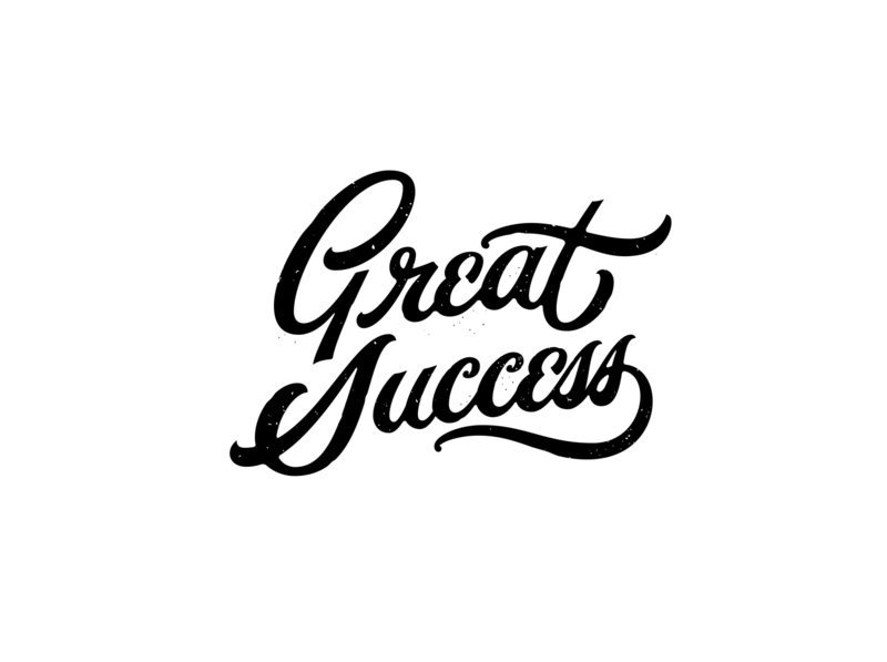 Great Success! lettering artist distressed lettering vintage type typography custom letters logo designer lettering logo customtype custom type hand lettering handlettering lettering
