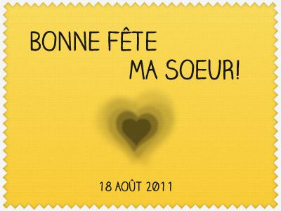 Bonne Fête Ma Soeur By Claire Guilloton On Dribbble