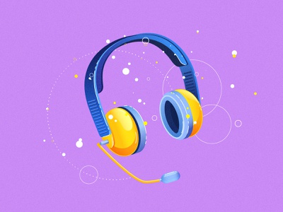 Icons messaging detail grain texture colors coin money headphones icons pack icons design employee 2d animation 2d vector illustration