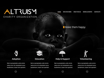 Web Template for Charity