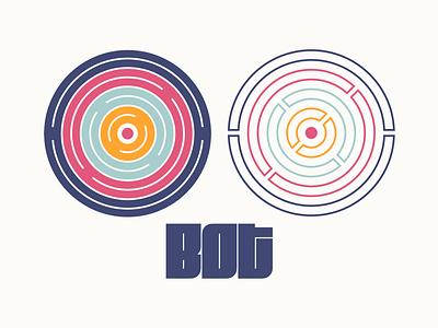 Bot bot circles flat colors typography minimal