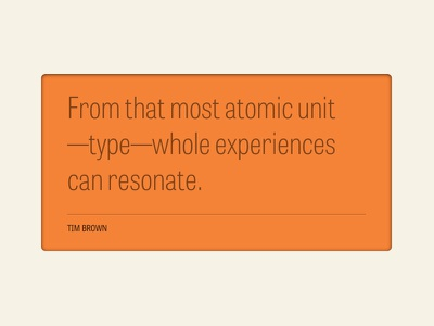 Atomic Unit typography quote type typecast tablet gothic tabletgothic