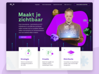 metMotion - Header branding hubspot video netherlands agency ux ui clean design website webdesign