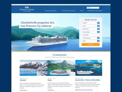 Princess Cruises homepage