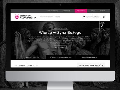 Biblioteka Kaznodziejska - website