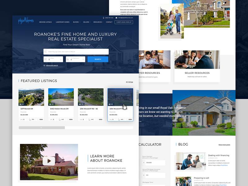 Real Estate Specialist  🏡  - webdesign listing property webdesign website web ui real estate page interface