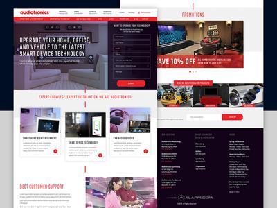 🔊🔊 Audiotronics 🔊🔊 - homepage design