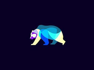 Polar Bear graphic blue design flat logo ui bear icon