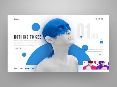 Nothing To See animation user experience graphic icon branding illustration logo blue ui flat web