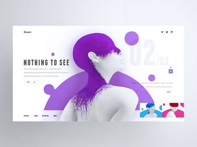 Nothing To See 2 vector branding app logo purple graphic illustration web design icon flat ui