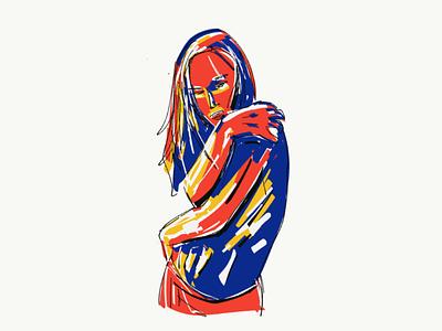 2/365 portrait adobe draw impressionist women illustration