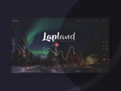 Lapland holiday landing page