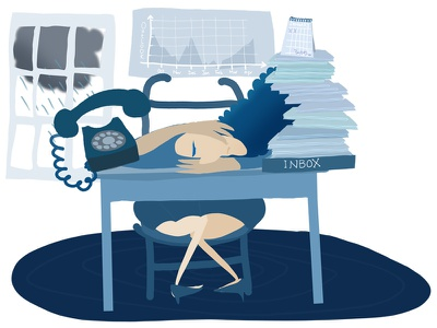 Blue january mindfulness editorial photoshop