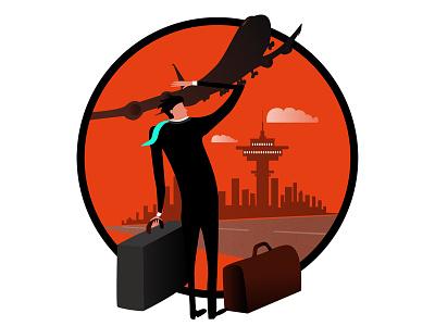 Goin Places identity icon travel illustrator illustration