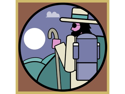 Outdoor Pursuits icon hiking illustration illustrator