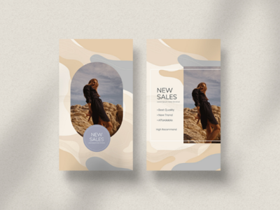 New Sales - Instagram Story Template facebook potrait graphic design fashion parisian seamless photoshop template story instagram layout