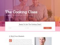 Cooking School Landing Page Design