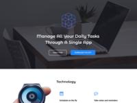 App Landing page Website Design