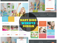 Baby Kids Website Design