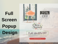 Full Screen Popup Design
