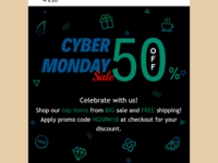 Ten Shop Cyber Monday Email Template