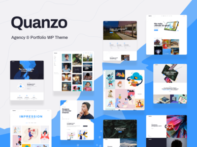 Quanzo - Personal Portfolio WordPress Theme blog wordpress theme business blogging wordpress design webdesign wordpress themes web design wordpress wordpress theme