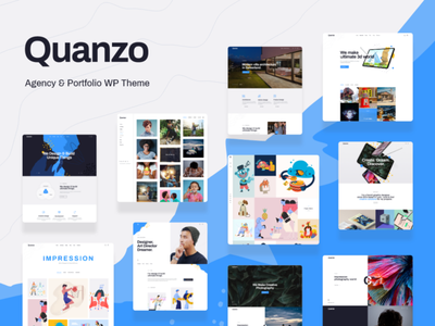 Quanzo - Personal Portfolio WordPress Theme blog wordpress theme business blogging wordpress design webdesign wordpress themes web design wordpress wordpress theme