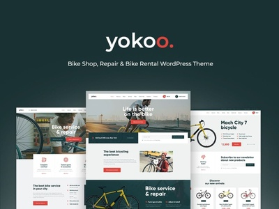 Yokoo - Bike Shop & Rental WordPress Theme wordpress design webdesign wordpress themes web design wordpress wordpress theme
