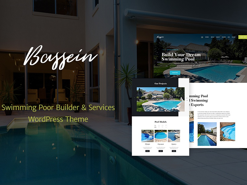 Bein Swimming Pool Service Wp Theme Plumber Website Template Plumbing WordPress