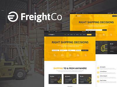 FreightCo   Transportation & Warehousing WordPress Theme logistics freight expedition corporate chain supply cargo wordpress wordpress theme
