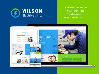Wilson Electrical – Repair and Maintenance Services WP Theme webdesign web design wordpress themes wordpress theme repair services wordpress theme repair wordpress theme